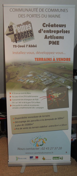 Roll-up Communauté de Communes Portes du Maine 2 x 0,80m
