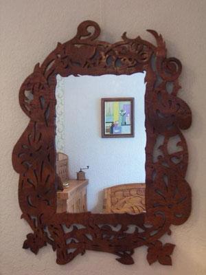 Miroir -art-nouveau ;sapéli /120*80 / 330E.