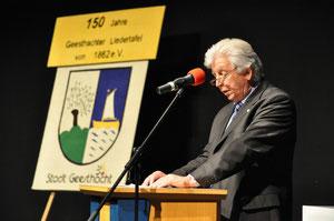 Dr. Carsten Ebel bei seiner Festrede am 6. Mai 2012