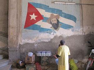 Ein weiterer Revolutionsheld an der Wand - Camilo Cienfuegos