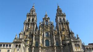 Da steht sie - die Kathedrale von Santiago de Compostella