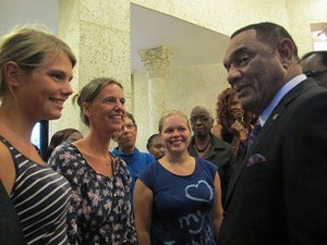 Smalltalk mit dem Prime Minister vom Commonwealth of Bahamas