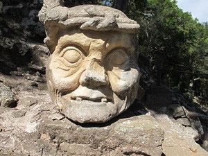 Kopf eines alten Maya.
