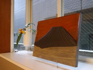 パネル|逆光の富士山