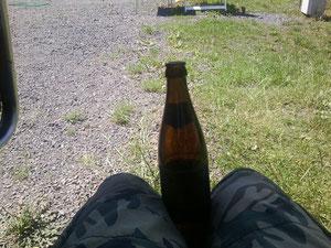 Männertour. Gerdchen und ich. Er trank Super :)
