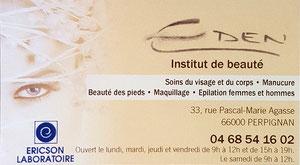 Loisirs66 carte de réduction Perpignan -Eden beauté - Loisirs 66 - loisirs66.fr