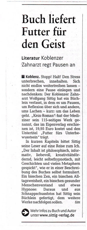 Rheinzeitung vom 21. 4. 2011