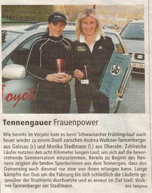 TN Bericht Schwarzacher Frühlingslauf 2011