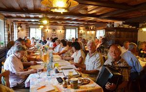 Sommertreff 2012 im Hirschen. Foto GabrieleHennicke BZ
