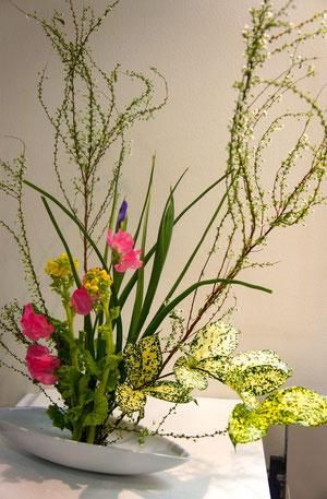 flower arrangement title:Spring