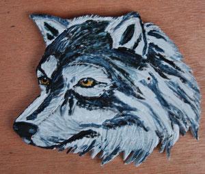 Keramiart - Räucherstäbchenhalter Wolfskopf