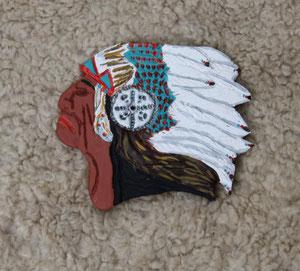 Keramiart - Räucherstäbchenhalter Native Chief