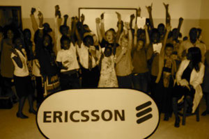 Ericsson gave strong presentations and excited the students by giving out mobile phones to the lucky few.