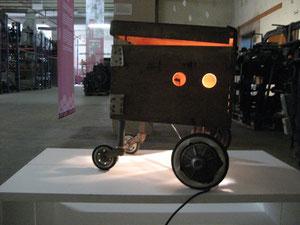 Licht ins Dunkel - Installation im LWL Textilmuseum Bocholt