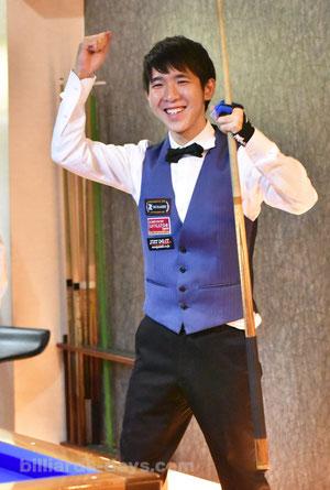 Yusuke Mori won Pro 3-cushion Tournament in GLANZ, Tokyo