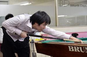 小川徳郎選手。試合でこんなに美しいフォロースルーのポーズ(一時停止)ができる人、なかなかいません