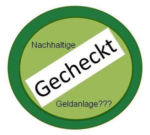"""""""Nachhaltigkeits-Check Geldanlagen"""" - Label der Projektgruppe """"Nachhaltige Geldanlagen"""""""