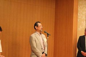 愛媛県技術士会の須賀会長による仲締め