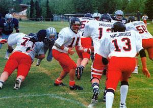 Les Comètes face aux Molosses lors de la finale pour le titre en 1994