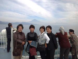 駿河湾フェリー船上にて
