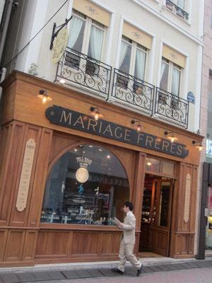 昔よく行ったマリアージュフレール。建物素敵^^