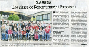 Le Dauphiné Libéré - 5 avril 2009
