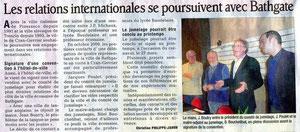 Le Dauphiné Libéré - 21 janvier 2010