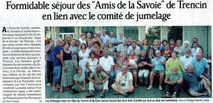 Le Dauphiné Libéré - 19 août 2012