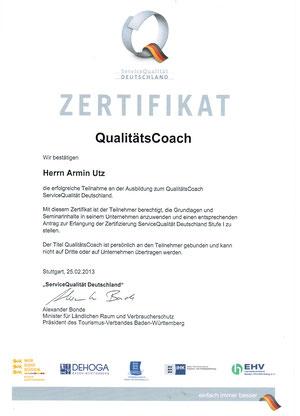 Zertifikat QualitätsCoach