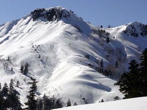 三方岩岳と滑降ライン