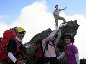 南竜へ、トンビ岩でちょっと楽しんで