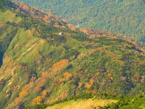別山山頂からチブリ尾根避難小屋
