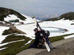 同じく布村さん。来年はどの山を滑ろっかな?