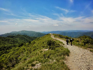 人気ルートの武奈ヶ岳西南陵