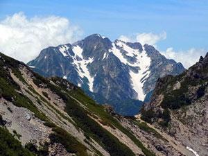 針ノ木峠からまずは、針ノ木岳へ、途中から剱アップ