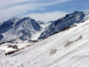白馬大雪渓が綺麗に見えました