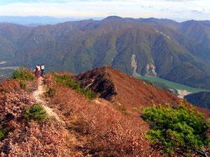 下山は、眺望の良い鶴平新道を下る