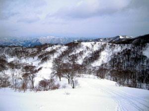 スキー場へ帰る (登りで撮った写真)