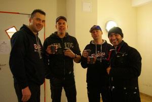 Die Coaches beim Kaffeeklatsch !