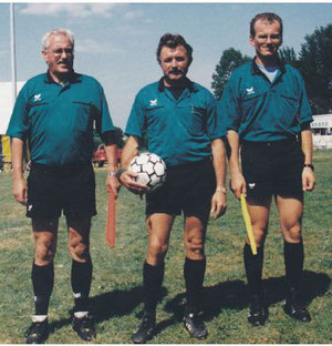 Alois Steiner mit seinem Gespann Siegmar Straub und Anton Guth