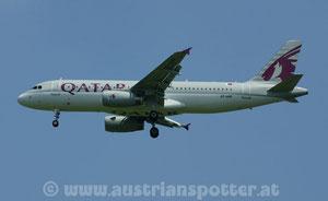 Qatar Airways *** A 320-232 *** A7-AHP