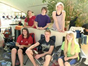 stehend v.l. Alina, Pascal, Saskia, sitzend v.l. Lena, Lukas und Merle