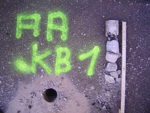 Kernbohrung zur Ermittlung des Profilaufbaus und evtl. Vorhandensein von PAK im Strassenbelag.