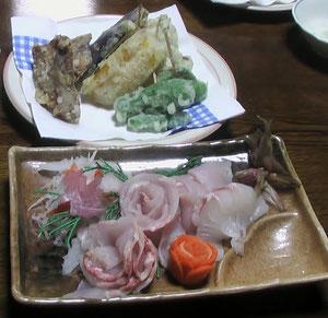 チョウザメのお刺身天ぷら 2012.10.23