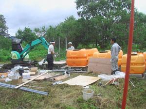 新浄化システム設置工事((有)スギタ設備)平成24年7月7日(土)