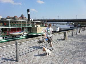 Unser Dampfer nach Schloss Pillnitz