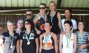das Siegerteam mit Margit Hirtzy, Julia Evangelist und Gudrun Paar