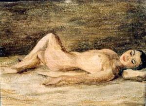 戦前の裸婦(卒業制作と聞いている)