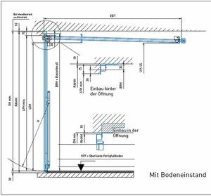 Doppelgaragentor maße  Ermittlung der Maße Schwingtor - Garagentor-montage-reparatur