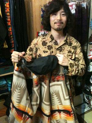 ご自慢のペンドルトンとコラボったシェラデザインジャケット!!